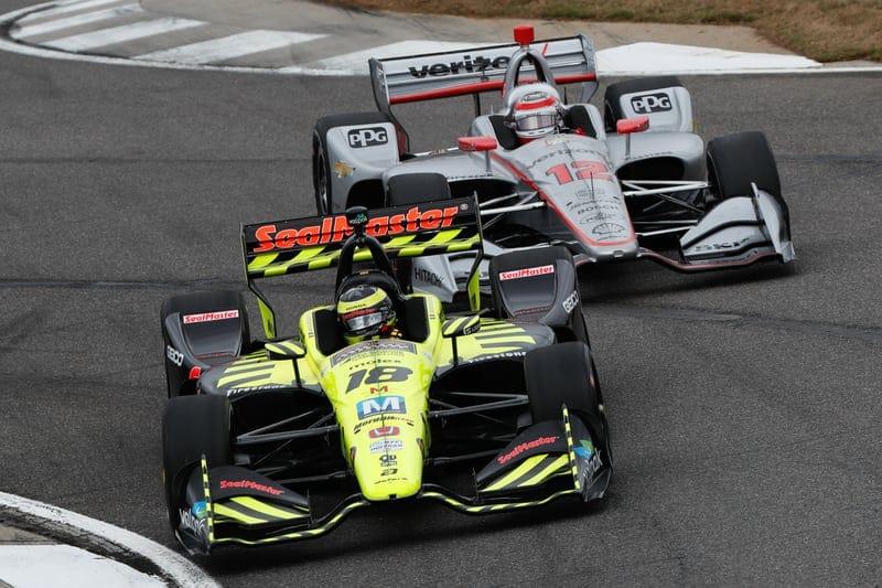 Sebastien Bourdais (FRA), Dale Coyne Racing, Will Power, Team Penske, 2019 NTT IndyCar Series, Barber