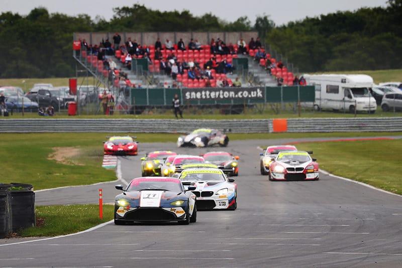 The Beechdean AMR Aston Martin takes victory at Snetterton
