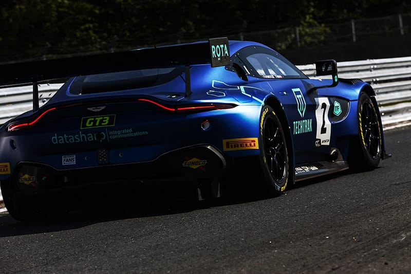 The #2 TF Sport Aston Martin V8 Vantage GT3 of Mark Farmer and Nikki Thiim.