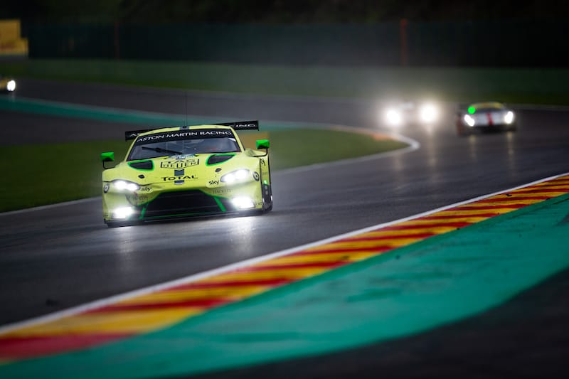 Maiden LM GTE Pro winners in the #97 Aston Martin Racing, Alex Lynn and Maxime Martin.