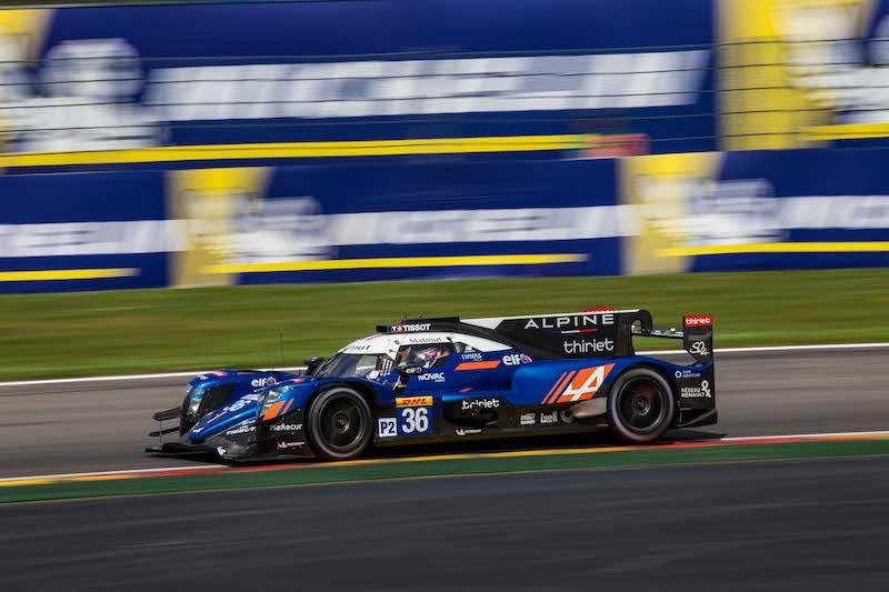 LMP2 Championship leader Signatech Apline on track at Circuit de Spa-Francorchamps.