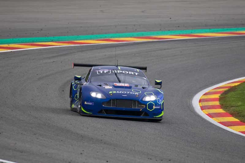 TF Sport #90 claiming LM GTE AM pole position for the 2019 6 Hours of Spa-Francorchamps.