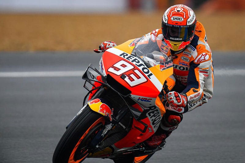 Marquez secures Le Mans pole in tricky conditions - The Checkered Flag