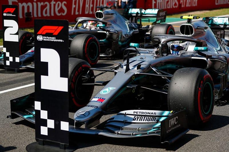 Valtteri Bottas and Lewis Hamilton - 2019 Spanish Grand Prix