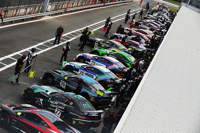 The British GT pit lane