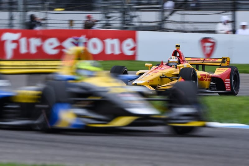 Ryan Hunter-Reay (USA), Zach Veach (USA), Andretti Autosport, 2019 NTT IndyCar Series, Indianapolis