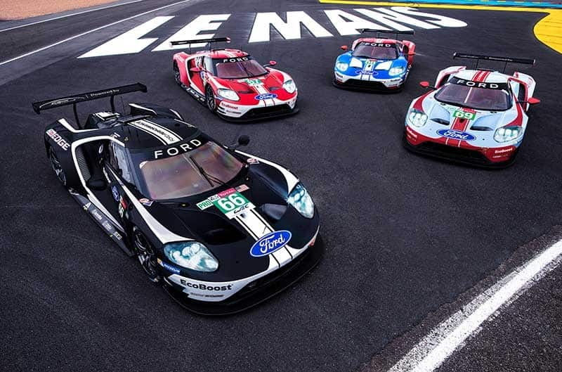 Ford Performance are running four retro liveries in celebration of their successful history at Le Mans for the 2019 24 Horus of Le Mans