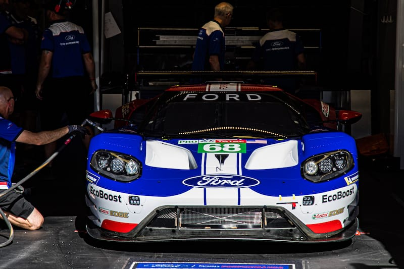 The 2016 Le Mans GTE Pro class-winning Ford Livery
