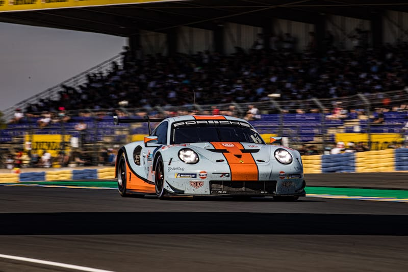The Gulf Racing #86 LM GTE Am entry for the 2019 24 Hours of Le Mans