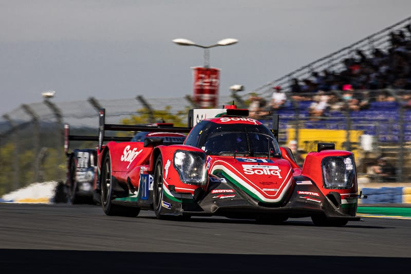 DragonSpeed, second fastest in LMP2, on track for the Le Mans Test Day