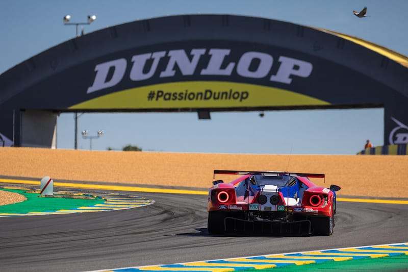 Ford Chip Ganassi at Dunlop Bridge during Le Mans