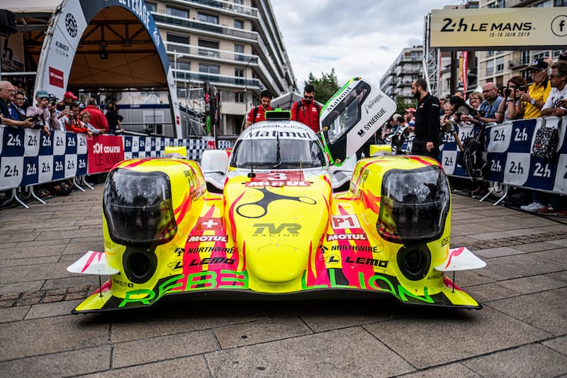 The #3 Rebellion Racing Rocketbyz Tomyboy livery for the 2019 24 Hours of Le Mans