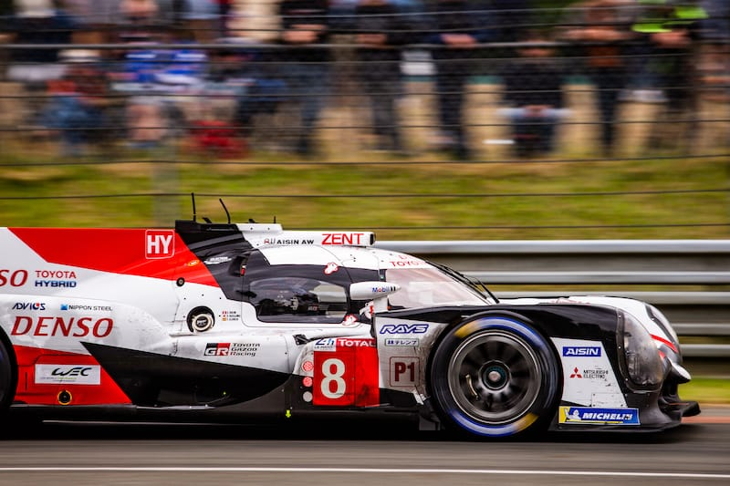 Le Mans winning #8 Toyota Gazoo Racing of Fernando Alonso, Sebastien Buemi and Kazuki Nakajima