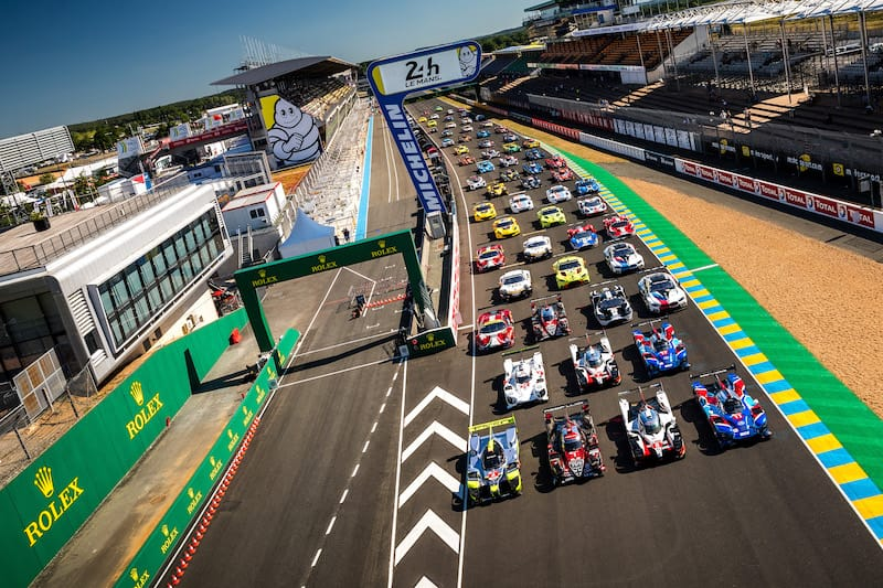 The record-breaking 62-strong 24 Hours of Le Mans grid ahead of test day.