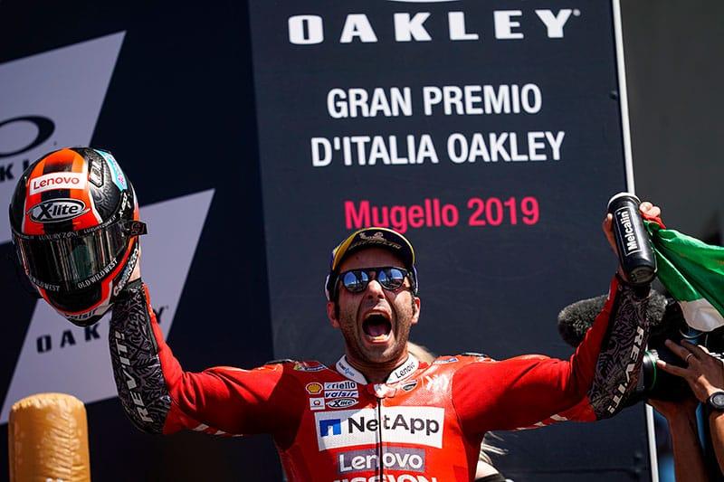 Danilo Petrucci Celebrates Maiden MotoGP win