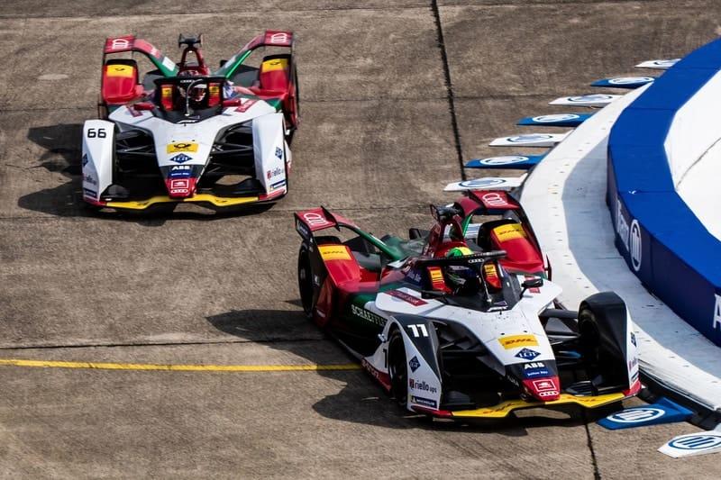 Lucas Di Grassi and Daniel Abt - Audis Sport Abt Schaeffler - Berlin Templehof Airport