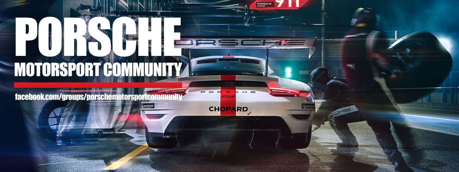 Search for Porsche Motorsport Community on Facebook