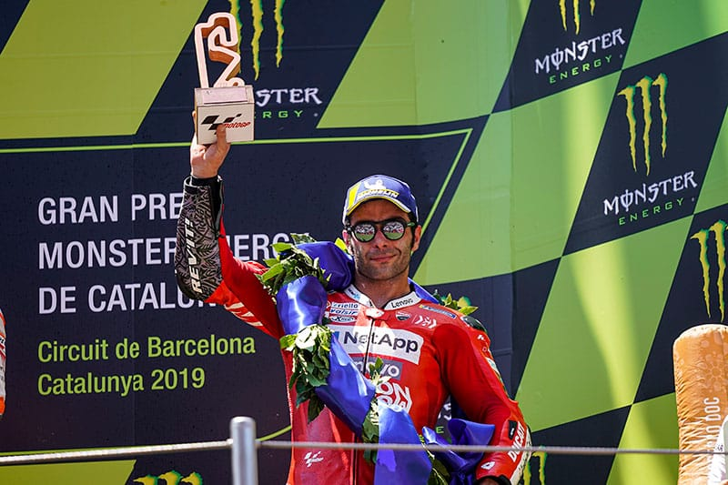 Petrucci Celebrates Catalan GP Podium