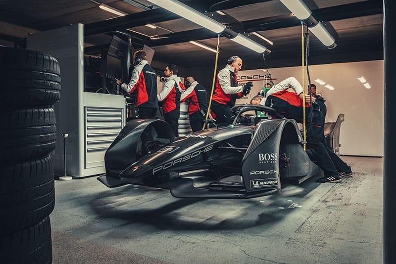 Porsche Formula E car
