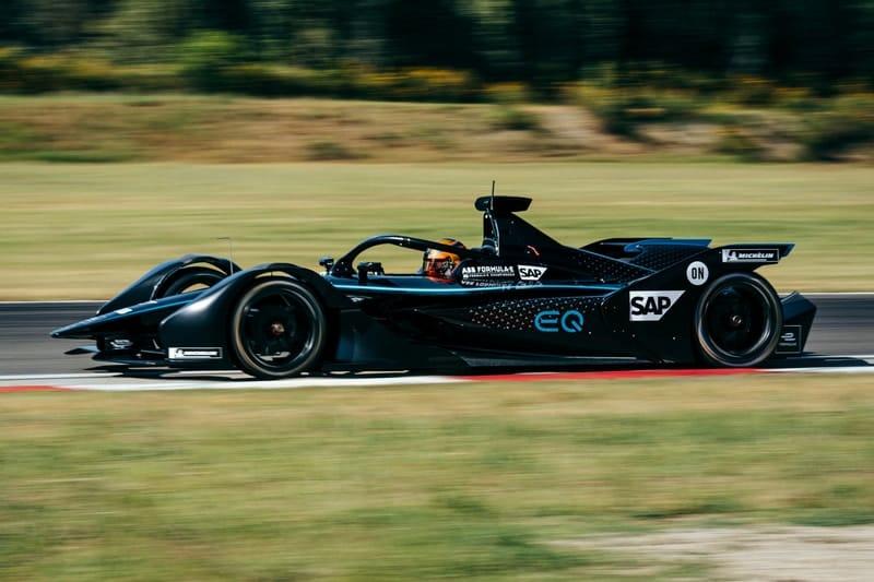 Stoffel Vandoorne testing for Mercedes EQ Formula E Team