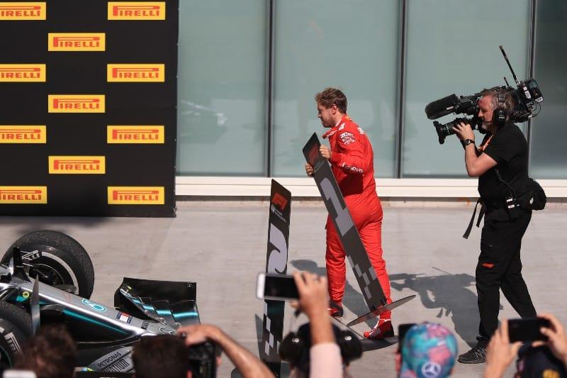 Vettel - Podium - Ferrari - Canada
