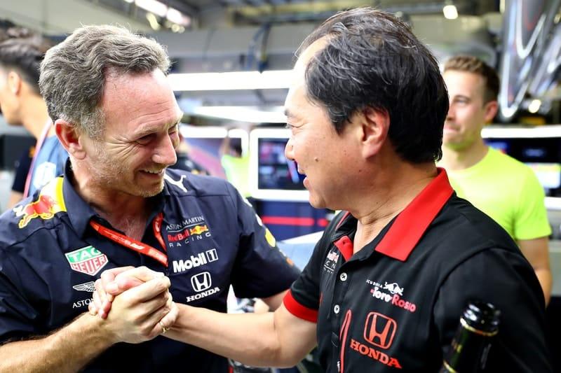 Christian Horner & Toyoharu Tanabe - Formula 1 - 2019 Austrian GP
