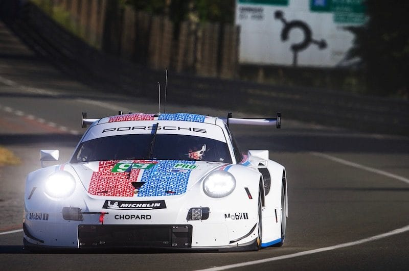 The special 'Brumos Racing' livery that the IMSA Porsche GT Team cars (#93/#94) will run at Le Mans