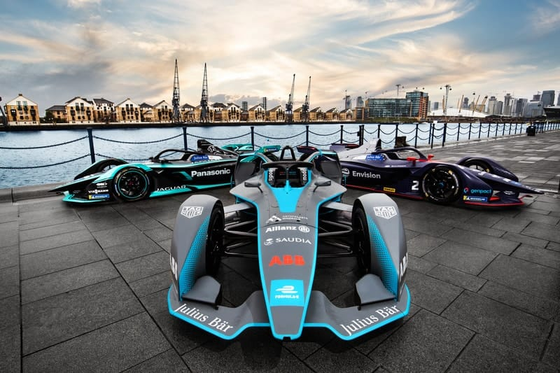 Formula E cars in London for 2020 race at Excel arena