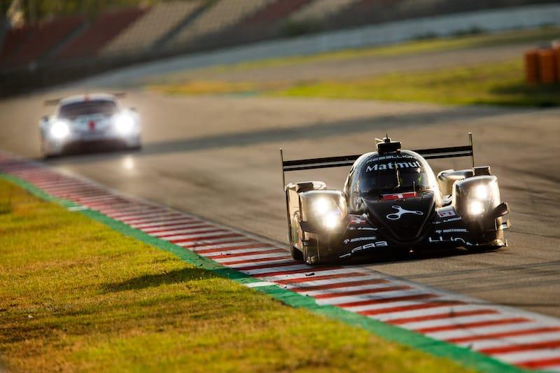 Rebellion Racing on track at the 2019 Prologue, Circuit de Barcelona-Catalunya