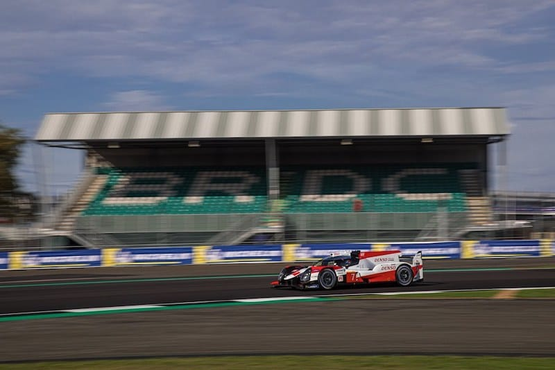 Toyota Gazoo Racing on track at Silverstone for the four hour WEC event, 2019