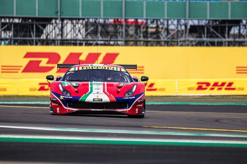 AF Corse #51 leading the way in GTE Pro before the time was beaten by the #91 Porsche