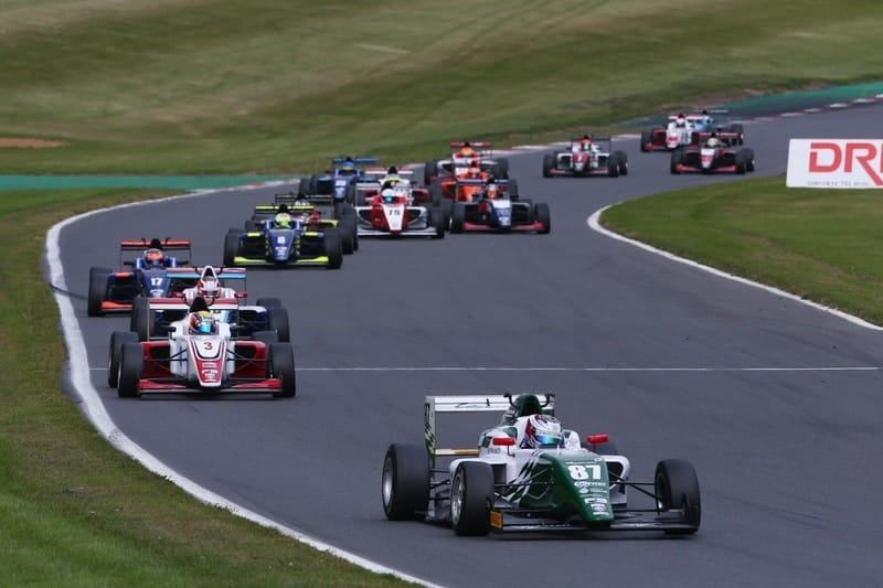 Kiern Jewiss leads race three at Brands Hatch