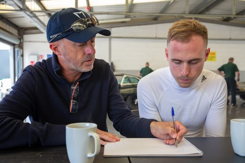 David Brabham and son Sam Brabham