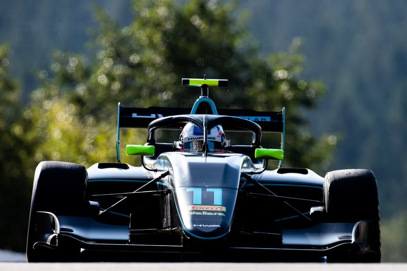 Jake Hughes - HWA Racelab at the 2019 FIA Formula 3 Championship - Spa-Francorchamps - Practice