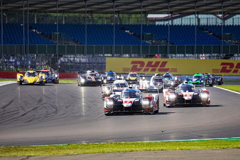 Toyota leading at the start of the FIA WEC 4 Hours of Silverstone