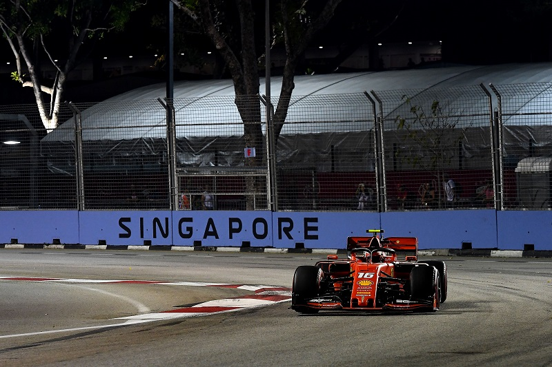 F1 Singapore: Leclerc Puts Ferrari on top in Final Marina Bay Practice - The Checkered Flag