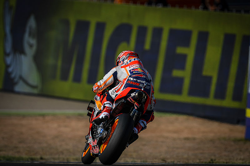 Marquez Tops Aragon Day One