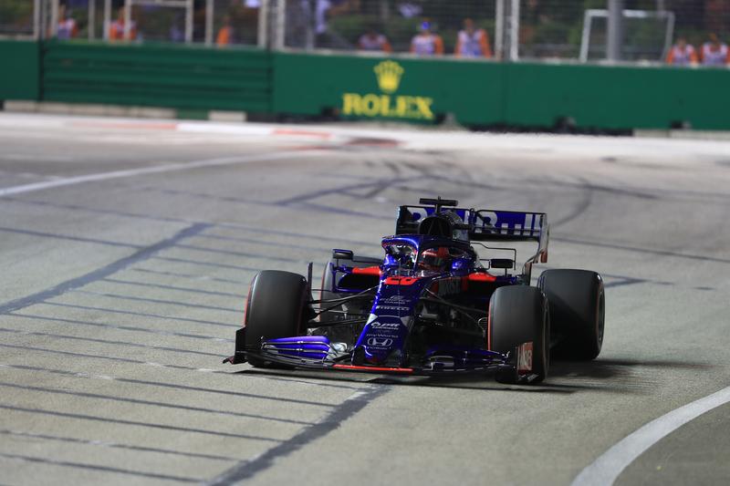 Daniil Kvyat - Red Bull Toro Rosso Honda at the 2019 Formula 1 Singapore Grand Prix - Marina Bay Street Circuit - Free Practice 2