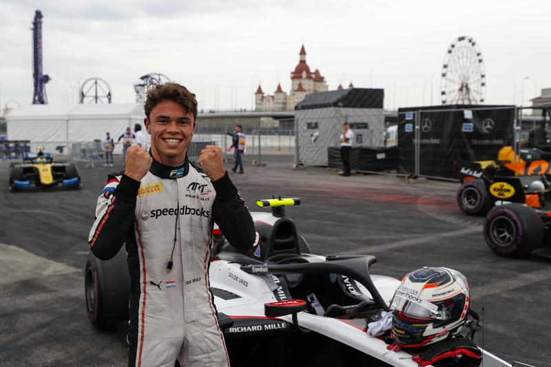 Nyck de Vries - ART Grand Prix in the 2019 FIA Formula 2 Championship - Sochi Autodrom - Qualifying - Parc Ferme