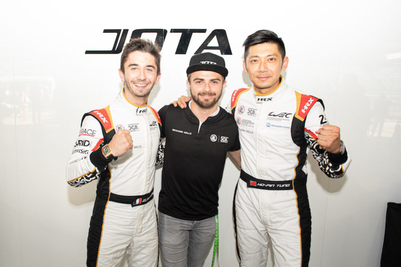LMP2 Pole sitters Gabriel Aubry, Will Stevens and Ho-Pin Tung
