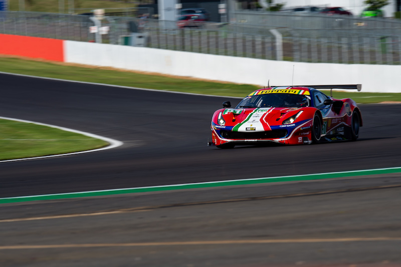 #51 AF Corse driving through Copse at Silverstone, WEC 2019