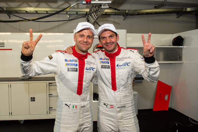 GTE Pro Pole sitters Gianmaria Brumi and Richard Lietz