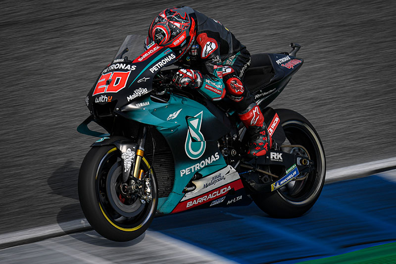 Fabio Quartararo on top in Thailand