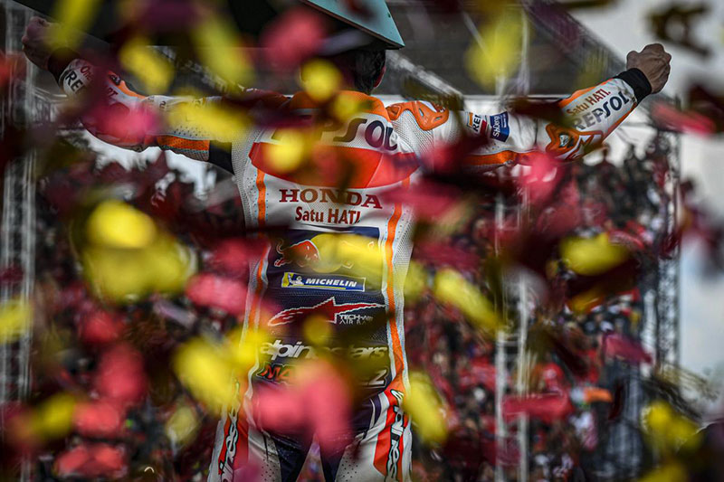 Marquez breaks records with eighth World Championship
