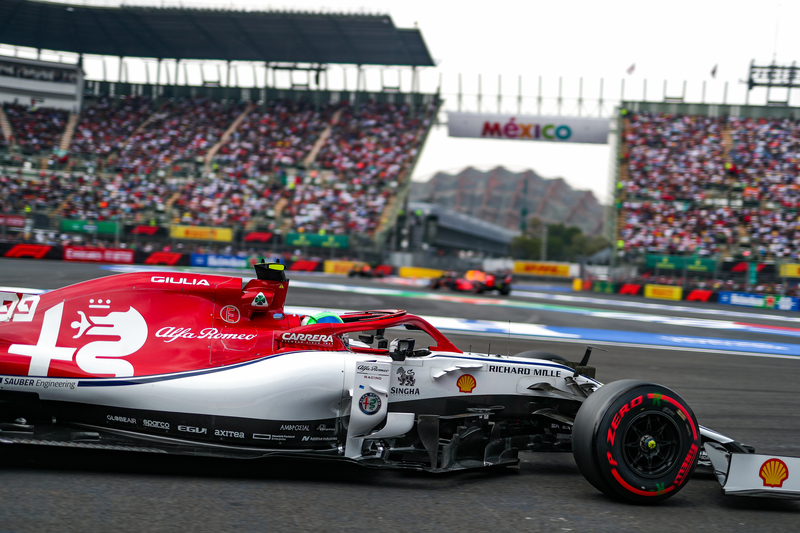 Antonio Giovinazzi - Alfa Romeo Racing in the 2019 Formula 1 Mexican Grand Prix - Autodromo Hermanos Rodriguez - Qualifying
