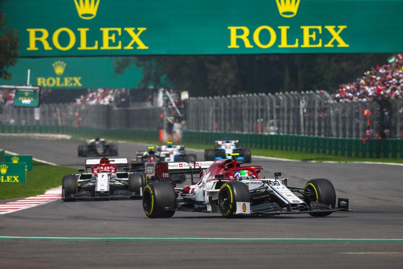 Antonio Giovinazzi & Kimi Räikkönen - Alfa Romeo Racing in the 2019 Formula 1 Mexican Grand Prix - Autodromo Hermanos Rodriguez - Race