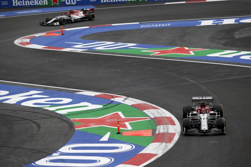 Kimi Räikkönen & Antonio Giovinazzi - Alfa Romeo Racing in the 2019 Formula 1 Mexican Grand Prix - Autodromo Hermanos Rodriguez - Qualifying