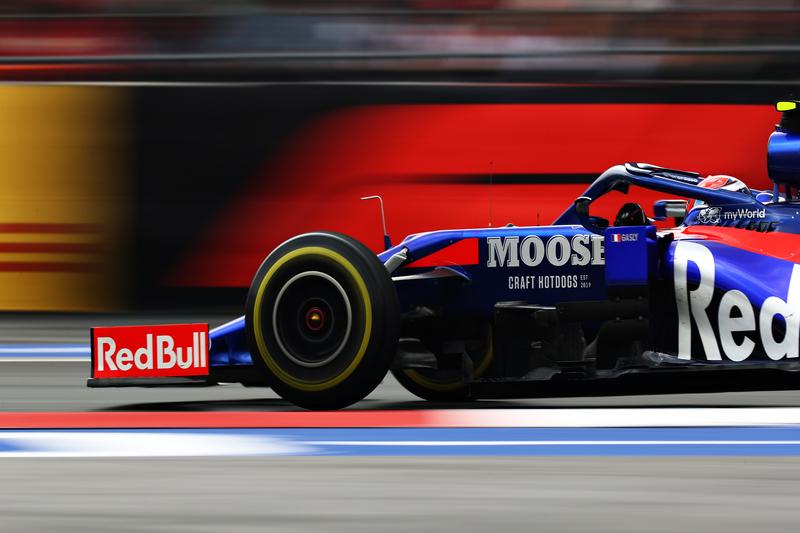 Pierre Gasly - Red Bull Toro Rosso Honda in the 2019 Formula 1 Mexican Grand Prix - Autodromo Hermanos Rodriguez - Free Practice 2