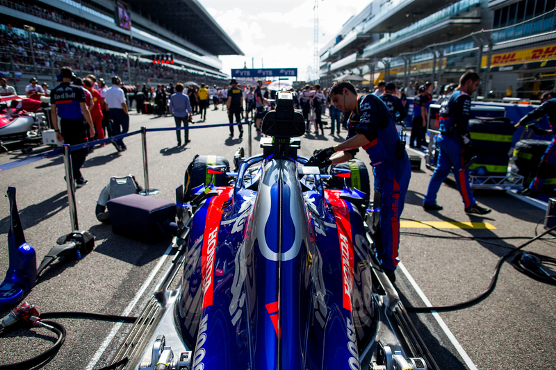 Pierre Gasly - Red Bull Toro Rosso Honda in the 2019 Formula 1 Russian Grand Prix - Sochi Autodrom - Grid
