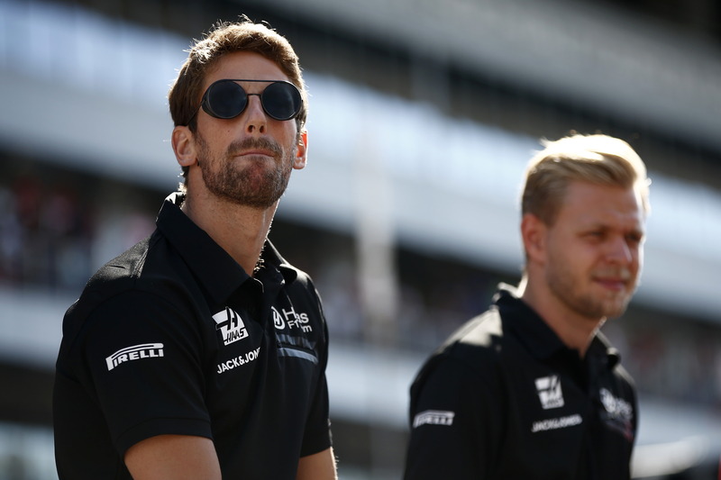 Romain Grosjean & Kevin Magnussen - Haas F1 Team in the 2019 Formula 1 Russian Grand Prix - Sochi Autodrom - Drivers Parade